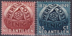 Netherlands Antilles #206-7  F-VF Unused CV $9.50 (Z4425)