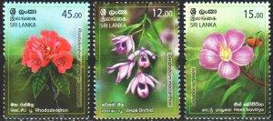 Sri Lanka. 2019. Flowers, flora. MNH.