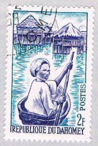 Dahomey 160 Used Woman in canoe 1963 (BP39202)