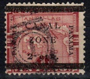 Canal Zone #17f  F-VF Used  CV $20.00 (X2498)