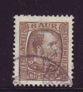 Iceland Sc 37 1902 6 a Christian IX stamp used