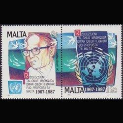 MALTA 1987 - Scott# 709a-b S/S Marine Set of 2 NH