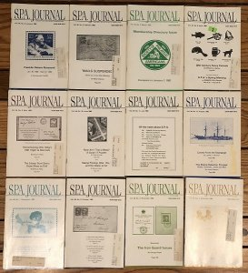Society of Philatelic Americans SPA Journal 1982 full year set of 12 issues