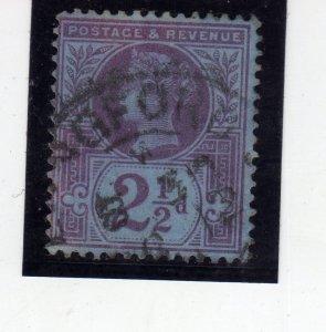 Queen Victoria 1887 2½P violet Bluish paper sg201 used