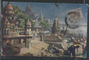 MALAYA  FMS COVER (P0605B) 1908 TIGER  3C ON COLOR PPC PENANG TO AUSTRALIA