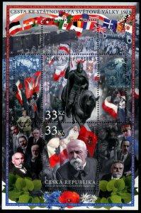 HERRICKSTAMP NEW ISSUES CZECH REPUBLIC Sc.# 3767 1918 Fight for Statehood