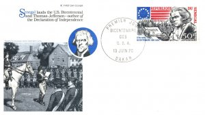 Senegal, Americana, Worldwide First Day Cover