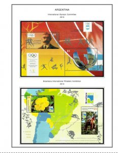 COLOR PRINTED ARGENTINA 2011-2018 STAMP ALBUM PAGES (61 illustrated pages)