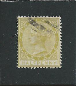 DOMINICA 1877-79 ½d OLIVE-YELLOW GU SG 4 CAT £60