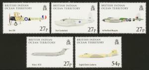 British Indian Ocean Territory Sc# 348-52 MNH 90th Anniversary RAF