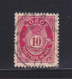 Norway 25 U Post Horn and Crown (B)