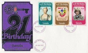 BC715) Tuvalu 1982 21st birthday of princess of wales fdc