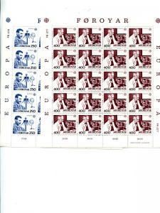 Faroe Islands 1983   Europa sheets VF NH  - Lakeshore Philatelics