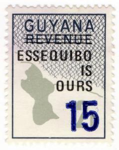 (I.B) British Guiana (Guyana) Revenue : Duty Stamp 15c on 2c OP
