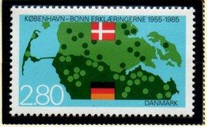 Denmark  Sc 770 1985 Copenhagen- Bonn Declaration stamp mint NH