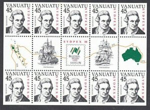 VANUATU 1988 Sydpex - Captain Cook - souvenir sheet MNH....................A267e