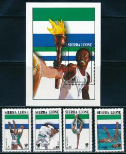 Sierra Leone - Seoul Olympic Games MNH Sports Set Flame (1988)