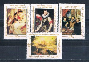 Mauritania 378-81 Used set Reuban paintings 1977 (HV0162)