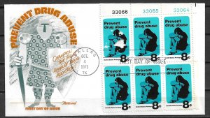 1971 Sc1438 Prevent Drug Abuse PB6 FDC