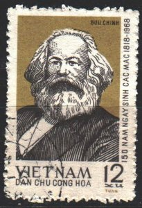 Vietnam. 1968. 533. Karl Marx. USED.