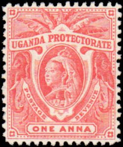 Uganda #69, Incomplete Set, 1898-1902, Hinged