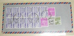 BANGLADESH  COVER  10 or MORE STAMPS ON CHITTAGONG 1976 TO USA REGISTERED