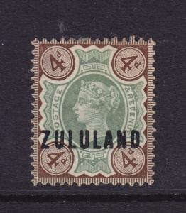Zululand Scott # 6 VF OG previously hinged nice color cv $ 60 ! see pic !