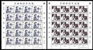 Faroe Is. Europa CEPT issue 1983 2v Sheets of 20 stamps SG#83-84 SC#95-96