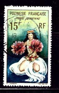 French Polynesia C30 Used 1964 Tahitian Dancer