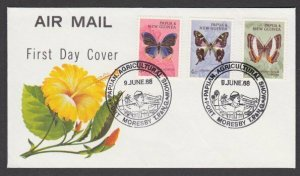 PAPUA NEW GUINEA 1968 cover - AGRICULTURAL SHOW commem pmk..................N674