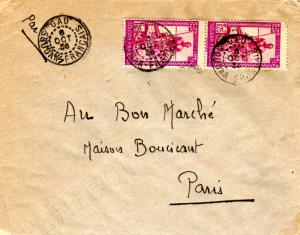 French Sudan 1.25F Sudanese Boatman (2) 1936 Gao, Soudan Francais Airmail to ...