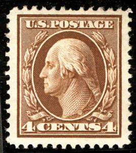 US  #334 SCV $350.00 XF JUMBO mint never hinged, large well centered margins,...