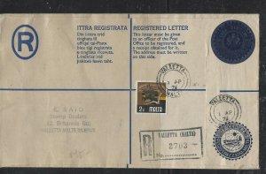 MALTA COVER (P1604B)  1976 RLE +2C  REG VALETTA LOCAL