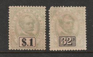 Sarawac an old $1 & 32c MNG