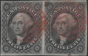 U.S. 17 Used FVF PAIR, Red Ccl. (61119)