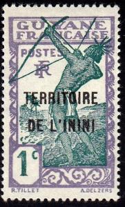 Inini #1 Ovpt. On French Guiana, 1932. Unused, HM