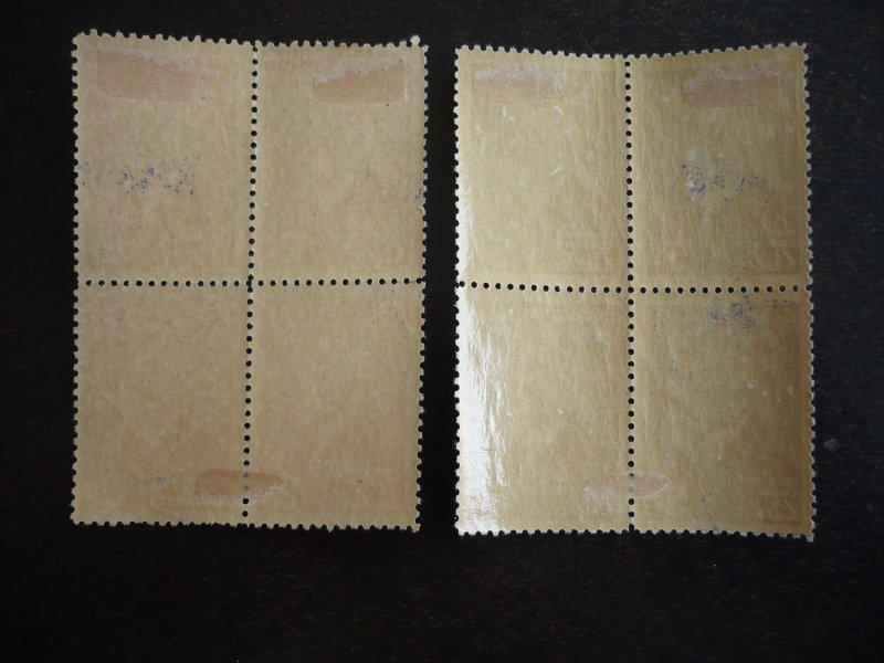 Stamps - Cuba - Scott#443-444  - Mint Hinged Set of 2 Stamps in Blocks of 4