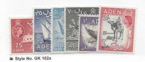 Aden, 51-55,57, Various Designs Singles,**LH**
