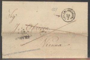 Turkey 1859 Constantinople Genes Vienna Austria Disinfected Cholera Pest  102385