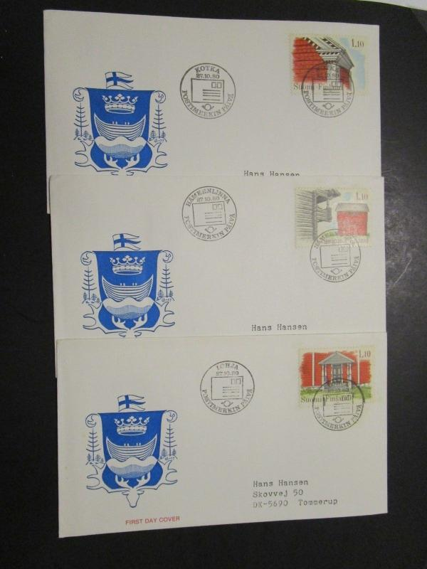 Finland 6 1980s First Day Covers - M56