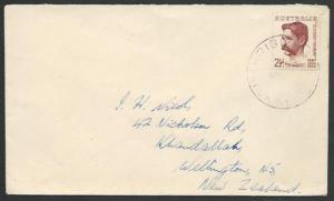 PAPUA NEW GUINEA 1949 cover Australia franking RIGO cds....................12595