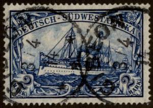 German 1914 SW Africa GIBEON DSWA Mi30 Wmk 2 Mark Large Yacht 79034
