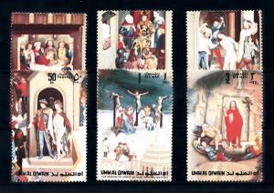 [94018] Umm Al Quwain 1972 Art Painting Easter Hans Memling  MNH
