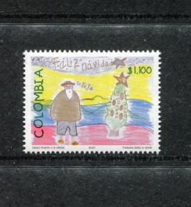 Colombia 1182, MNH,Christmas 2001. x23444