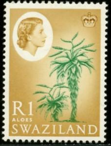 SWAZILAND Sc#106 SG#104 1962 QEII Definitive 1R Value OG Mint Hinged