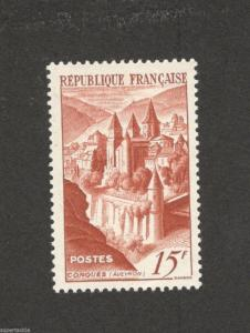 1947 France #590 Conques Abbey * mint hinged