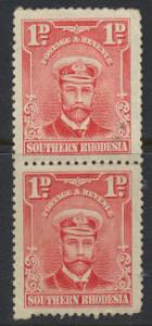 Southern Rhodesia SG 2 Mint never hinged pair  perf 14