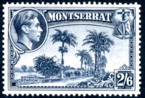 MONTSERRAT-1943 2/6 Slate-Blue Perf 14  Sg 109a LIGHTLY MOUNTED MINT   V15249