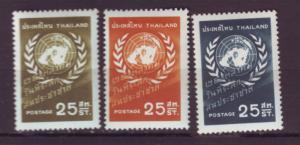 J20522 Jlstamps 1957 thailand set mh #330-2 un day designs