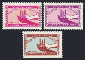 Saudi Arabia 274-276 blocks/4,MNH.Michel 139-141. FAO,Freedom from Hunger,1963.